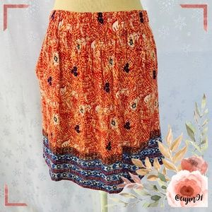 CAbi Bella Floral Mini Skirt Pockets S